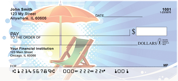 Beach Fun Personal Checks - Beach Fun Checks