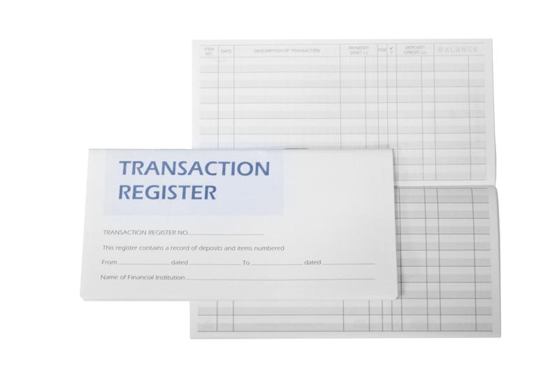 free printable check register checkbook size