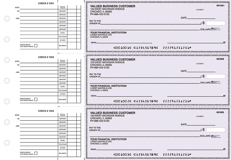 Purple Safety Accounts Payable Business Checks