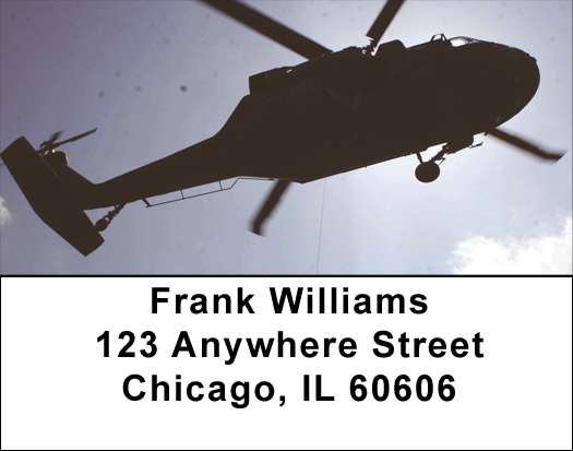 Helicopters in the Sky Address Labels