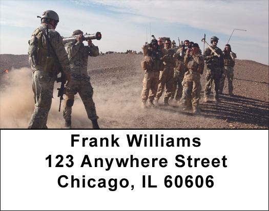 Army Teamwork Address Labels