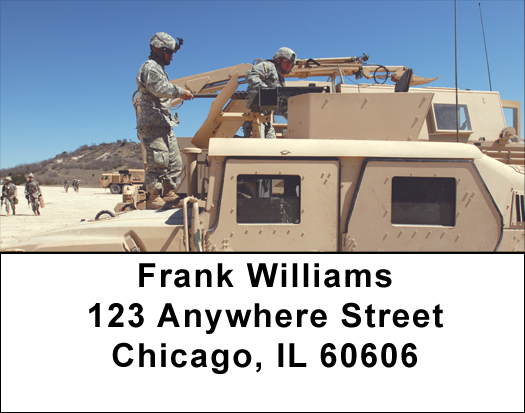 Army Transport Address Labels