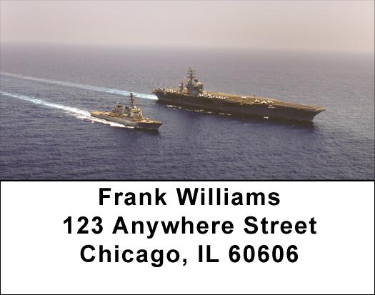 USS McFaul Address Labels