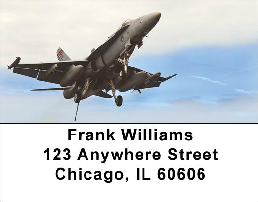 FA-18 Aircraft Address Labels