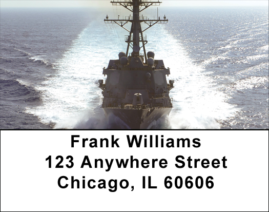 USS Farragut Address Labels