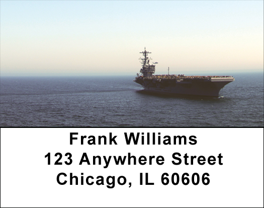 USS George HW Bush Address Labels
