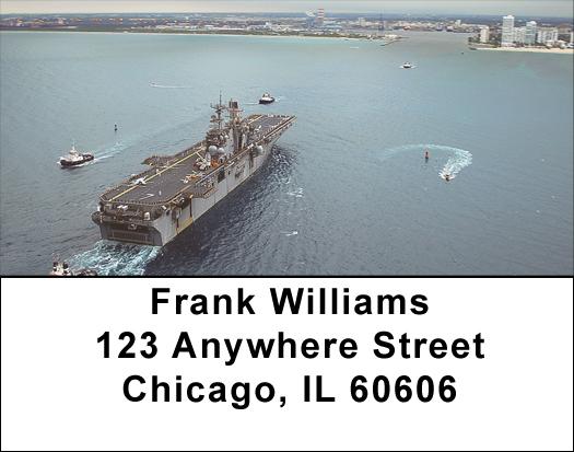 USS Iwo Jima Address Labels