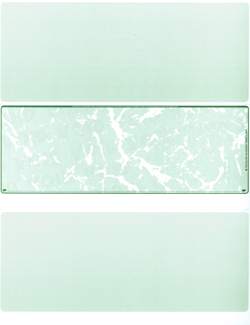 Green Marble Blank Middle Laser Checks