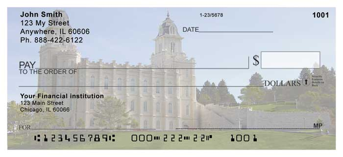 Manti Temple Personal Checks