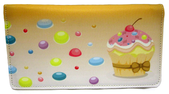 Cupcakes Cloth Checkbook Cover