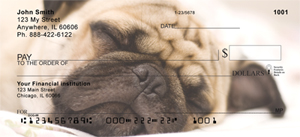 Pug Checks - Sleepy Pugs Personal Checks