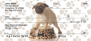 Pug Checks - Mischievous Pugs Personal Checks