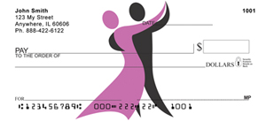 Dancer Silhouette Personal Checks - Dancing Checks