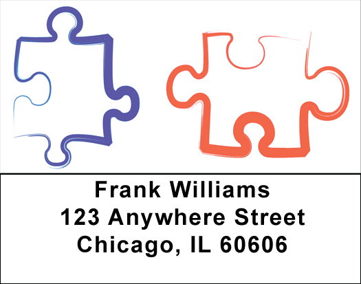 Jigsaw Puzzle Pieces Address Labels - Jigsaw Labels