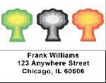 Mushroom Designs Address Labels