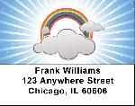 Rainbow Labels - Rainbow Circles Address Labels