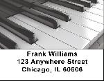 Piano Labels - Black and White Piano Address Labels