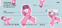 Pink Ribbon Background Personal Checks