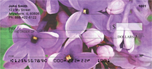 Lilac Rouen in Oil Personal Checks - Rouen Lilacs Checks