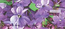 Lilac Pocahontas 2 in Oil Personal Checks - Pocahontas Lilacs Checks