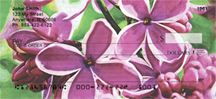 Lilac Sensation in Oil Personal Checks - Sensation Lilacs Checks