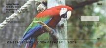 Scarlet Macaw Checks - Parrots Personal Checks
