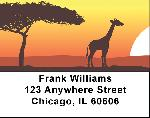 African Savannah Address Labels - Africa Labels