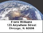 Earth from Space Address Labels - Earth Labels