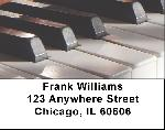 Piano Key Labels - Piano Keys Address Labels
