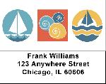 Beach Icon Labels - Beach Water Icons Address Labels