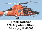 Coast Guard Labels - Coast Guard Helicopters Address Labels