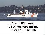 Coast Guard Checks - Coast Guard Cutters Address Labels