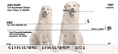Great Pyrenees Personal Checks - Great Pyrenees Checks