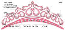 Tiara Checks - Pink Tiaras Personal Checks
