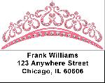 Tiaras Labels - Pink Tiara Address Labels