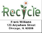 Recycling Labels - Recycling Address Labels