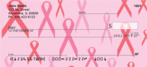 Pink Ribbon Checks - Breast Cancer Backgrounds Personal Checks
