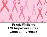 Pink Ribbon Labels - Breast Cancer Backgrounds Address Labels