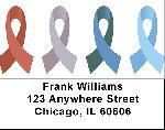 Awareness Ribbons Address Labels - Awareness Labels