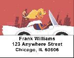 Sports Car Labels - Sports Car Address Labels