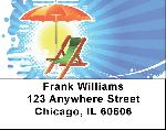 Beach Fun Address Labels - Beach Fun Labels