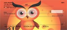 Owl Cartoon Personal Checks - Owls Checks
